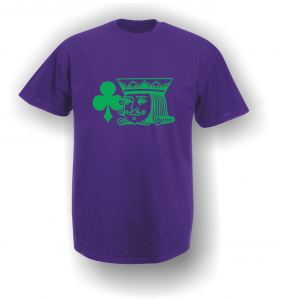 Purple King of Clubs T-Shirt