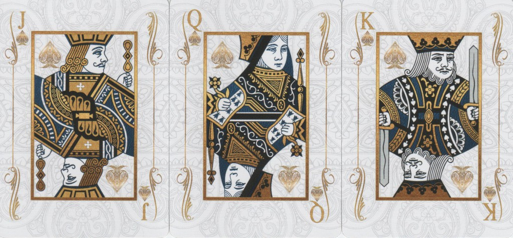 Jack Queen & King of Spades. Bicycle Excellence Deck.