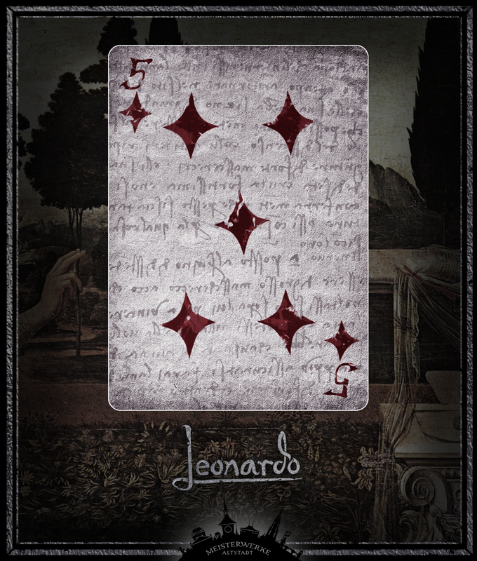 Leonardo 5 of Diamonds