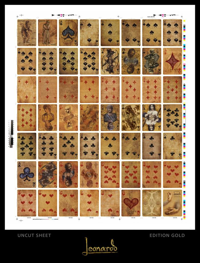 Leonardo Uncut sheet