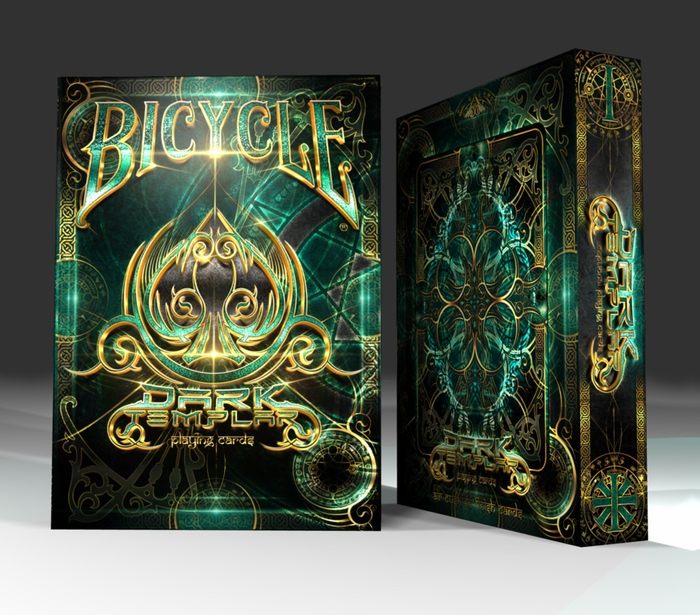 Bicycle Dark Templar Playing Cards by The Cardicans