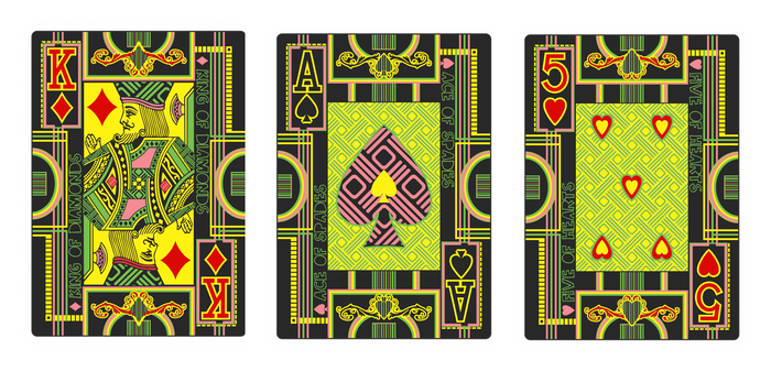 Hallucinatory Playing Cards - Faces