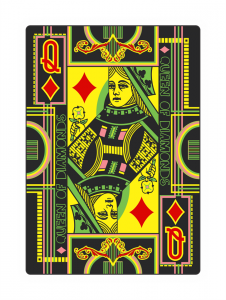 Hallucinatory Playing Cards - Queen