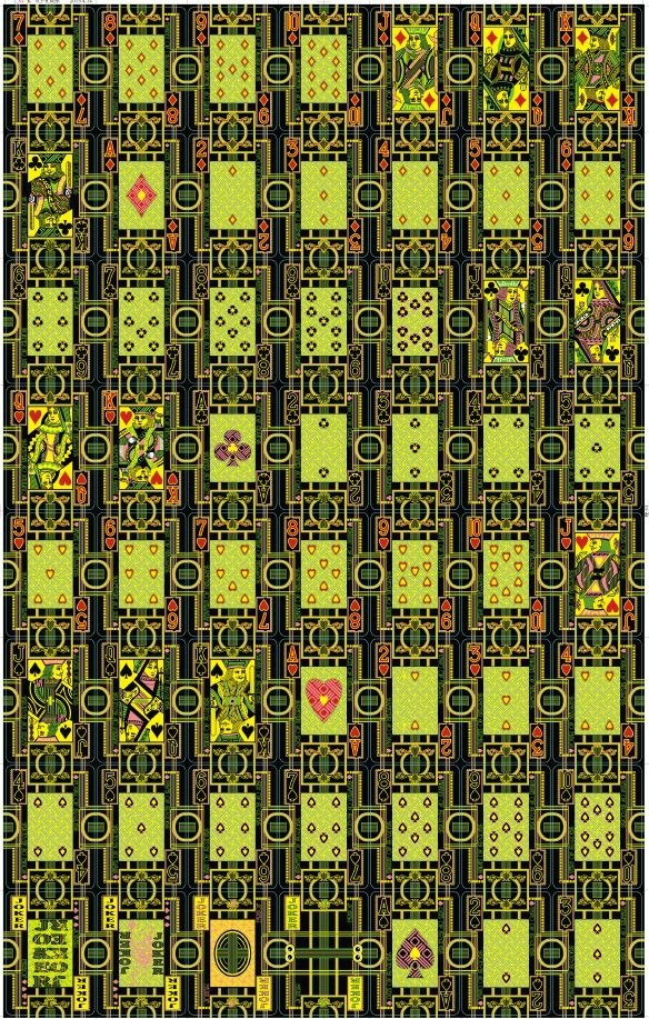 Hallucinatory Playing Cards - Uncut Sheet