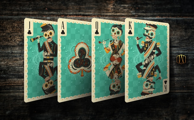 Fuego! Playing Cards - Courts, Clubs