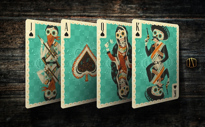 Fuego! Playing Cards - Courts, Spades