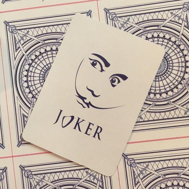 The Architect Playing Cards - Dali Joker