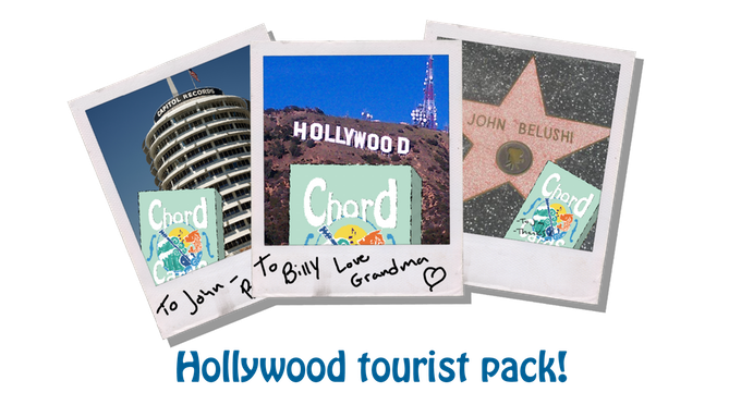 Chord Cards Playing Cards Hollywood Tourist Pack