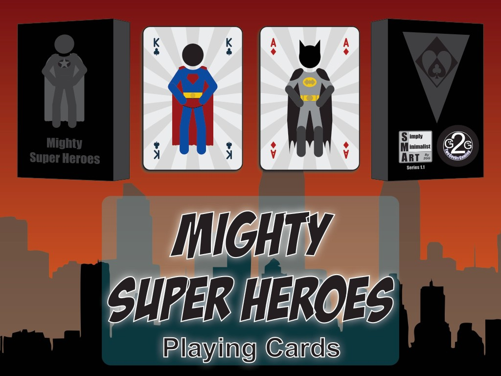 Mighty Super Heroes Playing Cards