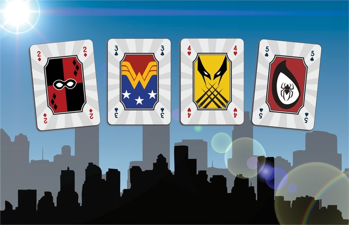 Mighty Super Heroes Playing Cards Pips