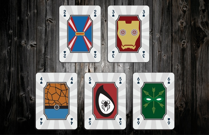 Mighty Super Heroes Playing Cards Spades Pips