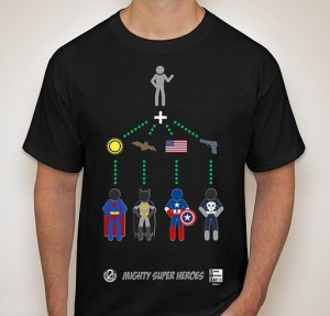 Mighty Super Heroes Playing Cards T-Shirt