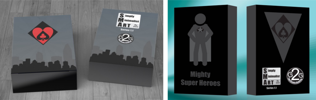 Mighty Super Heroes Playing Cards Tuck Box Prototypes