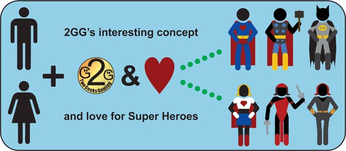 Mighty Super Heroes Playing Concept