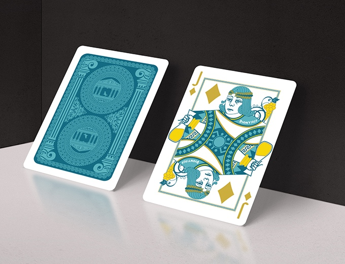 Olympus Bicycle Playing Cards - Dionysus - God of the Wine Harvest