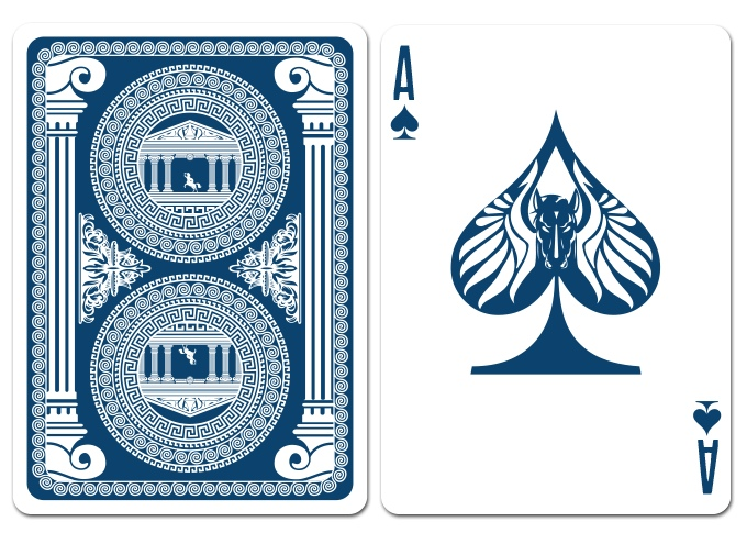 Olympus Bicycle Playing Cards - Pegasus - Ace of Spades