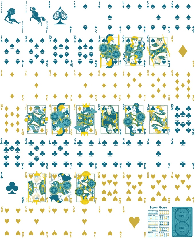 Olympus Playing Cards Uncut Sheet by Tom Anderle