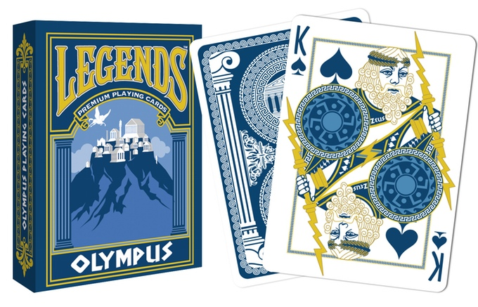 Olympus Playing Cards Tuck Box and Zeus