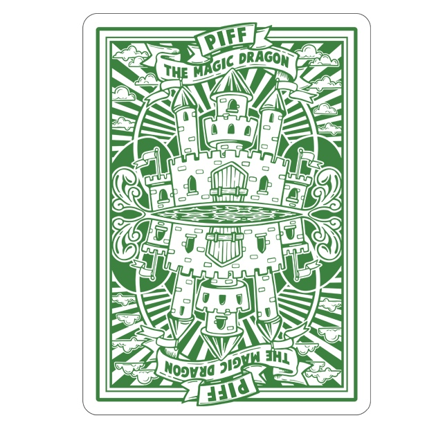 Piff The Magic Dragon Playing Cards Back Design