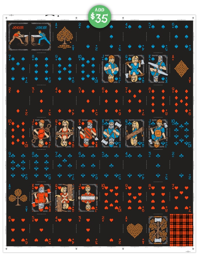 The Lumberjacks 2nd Edition Uncut Sheet