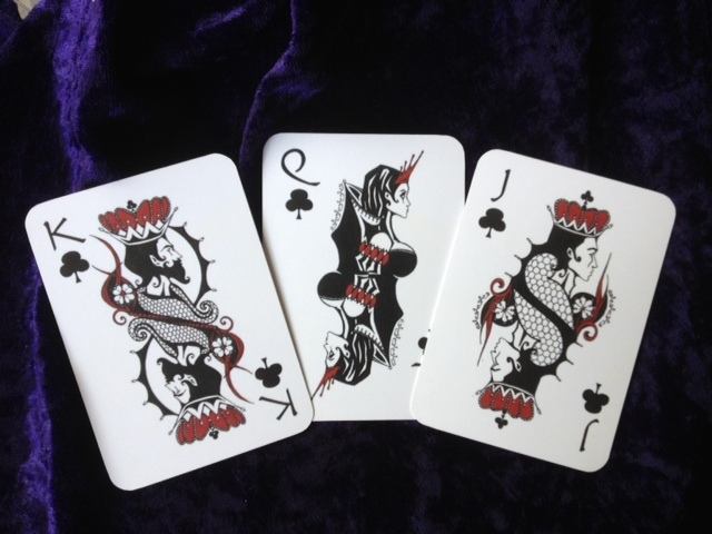 Rogue Queen Playing Cards Clubs Court Cards