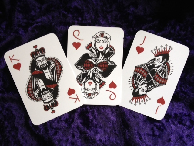 Rogue Queen Playing Cards Hearts Court Cards
