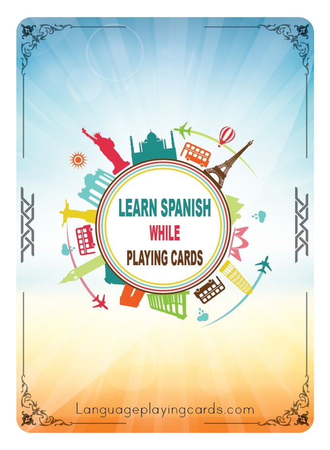 Learn Spanish or French (while) Playing Cards Back