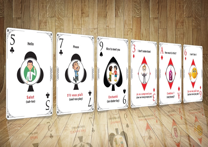 Learn Spanish or French (while) Playing Cards Pips