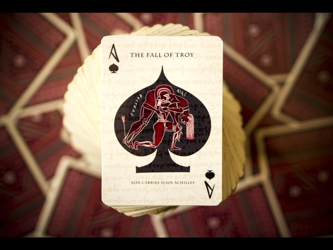 The Fall of Troy - Ajax Carries Slain Achilles - The Ace of Spades