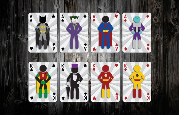 Mighty Heroic Minis Playing Cards Aces and Kings