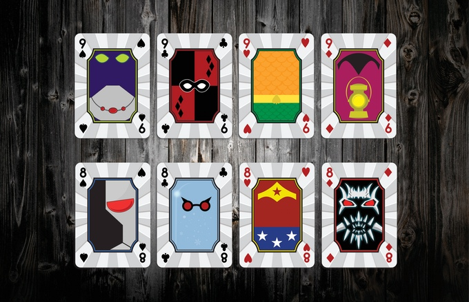 Mighty Heroic Minis Playing Cards Pips Nines and Eights