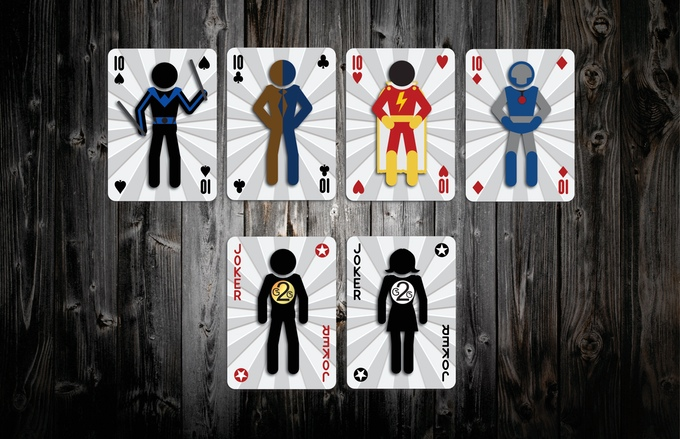 Mighty Heroic Minis Playing Cards Tens and Jokers