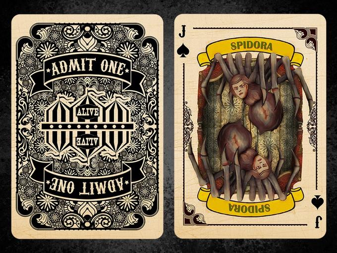 Slideshow Playing Cards Card Back Spidora