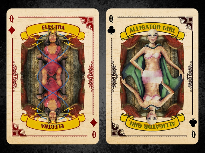 Slideshow Playing Cards Electra Alligator Girl