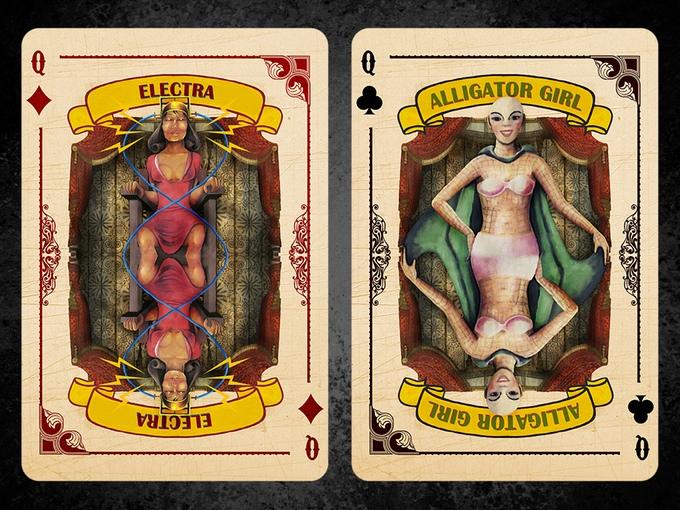 Slideshow Playing Cards Electra Alligator Girl
