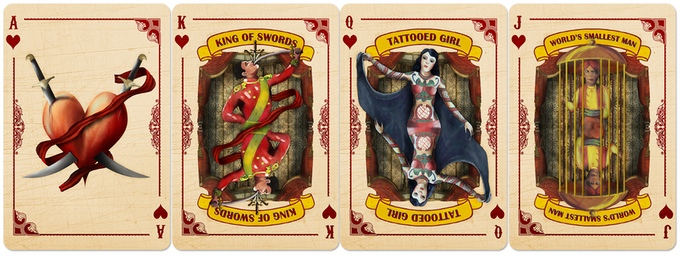 Slideshow Playing Cards Hearts Courts