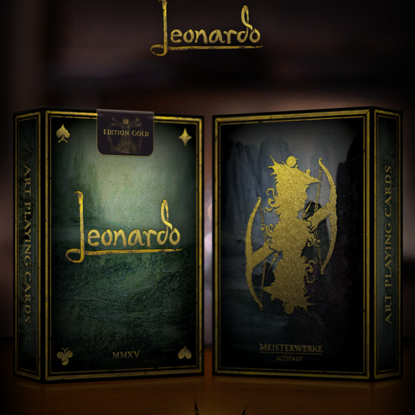 Leonardo Edition Gold Playing Cards