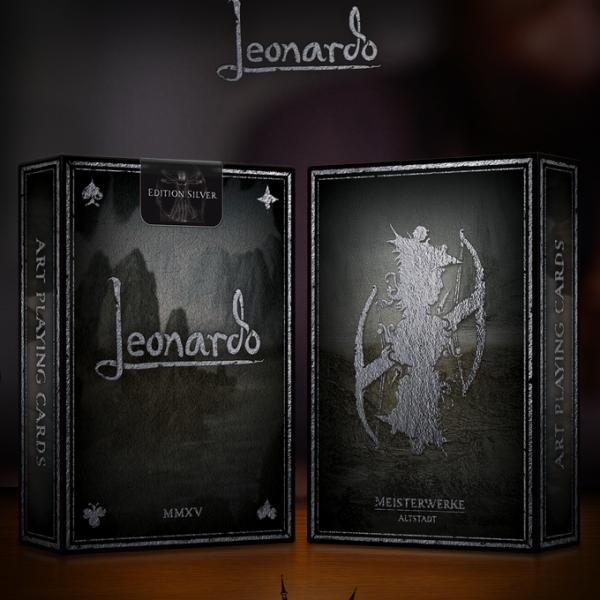 Leonardo Edition Silver Playing Cards