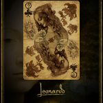Leonardo Gold Queen of Clubs
