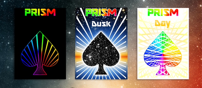 Prism Night, Dusk and Day Playing Cards