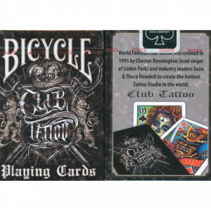 Bicycle Club Tattoo Black