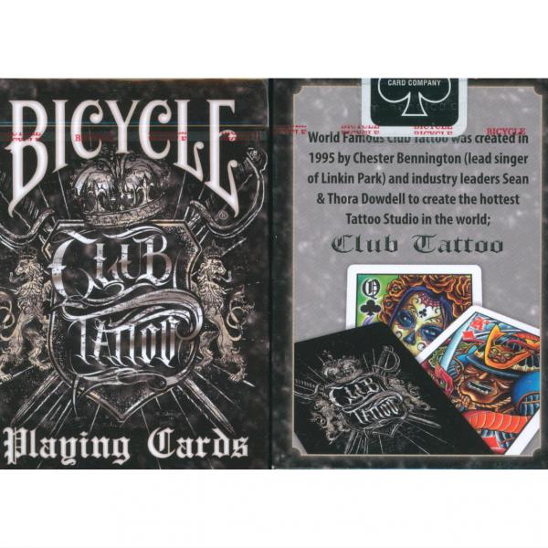 Bicycle Club Tattoo Black
