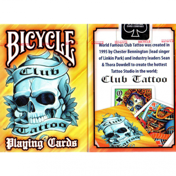 Bicycle Club Tattoo Yellow