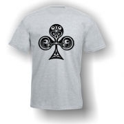 Club Playing Card Pip T-Shirt Grey