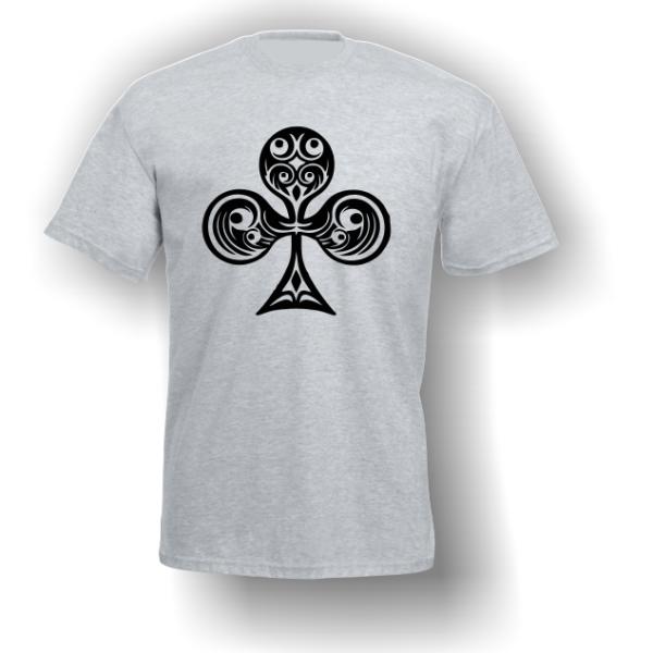 Club Playing Card Pip T-Shirt Grey