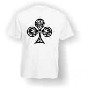 Club Playing Card Pip T-Shirt White