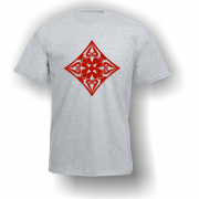 Diamond Playing Card Pip T-Shirt Grey