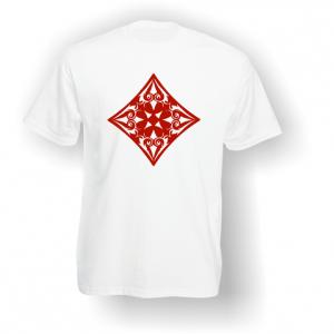 Diamond Playing Card Pip T-Shirt White