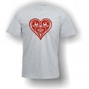 Heart Playing Card Pip T-Shirt Grey
