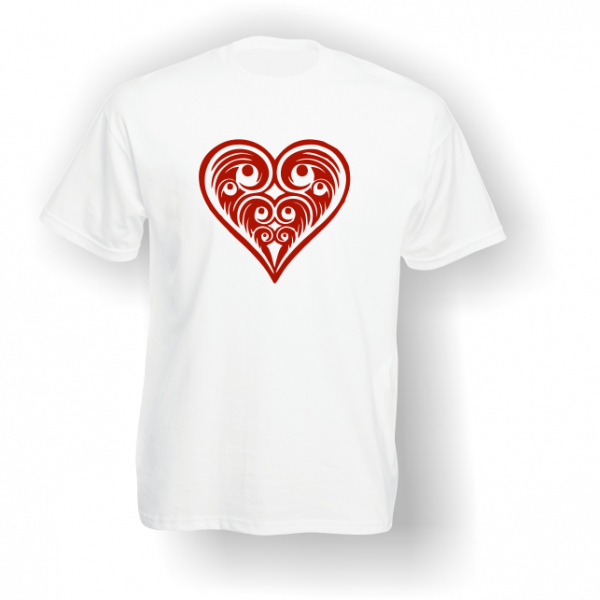 Heart Playing Card Pip T-Shirt White